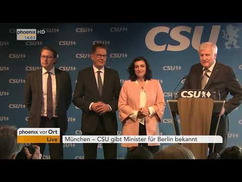 Horst Seehofer verkündet die Ministerposten für die künftige Regierung am 05.03.18