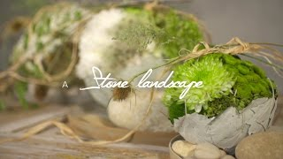 A Stone Landscape by Klaus Wagener | Flower Factor How to Make | Powered by Deliflor Chrysanten