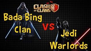 Noob 3 Star Attack - Bada Bing Clan vs Jedi Warlords | Clash of Clans | War Recap