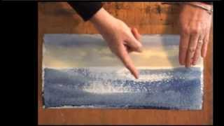 Ev Hales Watercolor Demonstration 2. Sparkle on the Water