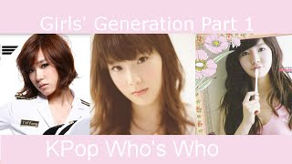 Kpop Who's Who - Girls' Generation  Snsd  Part 1  2007-2009