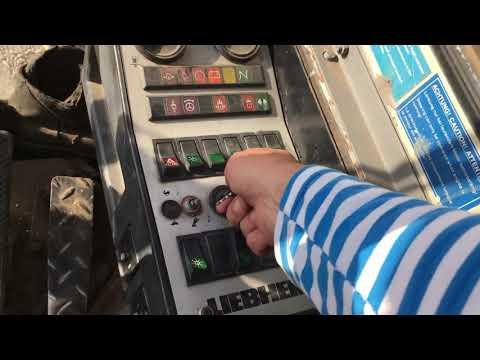 LIEBHERR-902  1988год(обзор,управление)1-ч