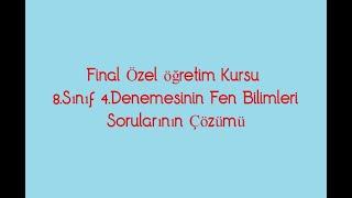Final Okulları / 4.Denemesi / Soru Çözümü