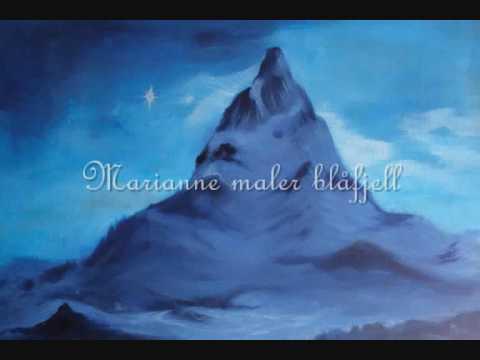 Marianne maler blåfjell