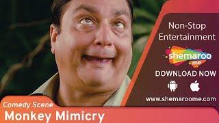 Vinay Pathak mimics monkey to help Kay Kay Menon - Bheja Fry 2 - Popular Comedy Scene