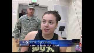 Soldier Return Surprises Sister at Basketball Practice