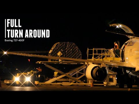 Parcelair   Boeing 737-400F - Freight and Aircraft Turnaround