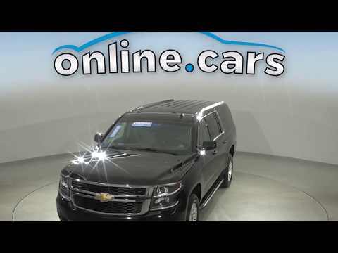 A15402TR Used 2019 Chevrolet Suburban LT 4WD Black SUV Test Drive, Review, For Sale