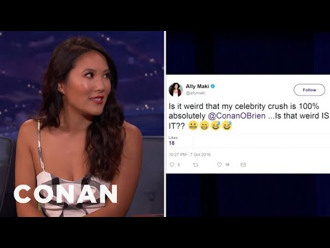 Conan Is Ally Maki's Celebrity Crush  - CONAN on TBS