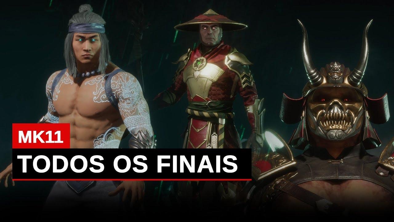Mortal Kombat 11 Todos os Finais em Português Pt-Br