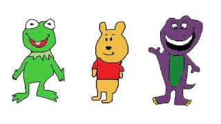 kermit, pooh and barney
