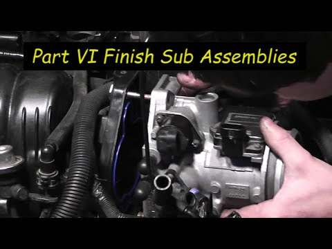 1995 Oldsmobile 88 3.8L Pt6 Install Thermostat,  New Dorman Tensioner, E.F.I., and Throttle Body
