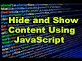 How to Hide and show content using JavaScript | HTML and JavaScript