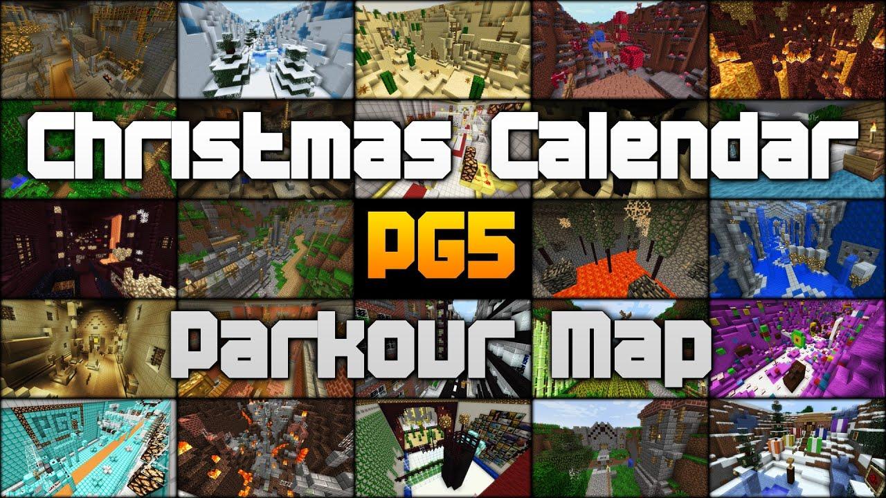 Christmas Calendar Minecraft Download : Trailer parkour map christmas calendar minecraft