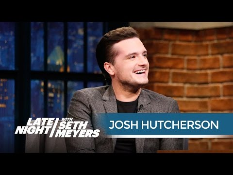 Josh Hutcherson on Living in a Hotel with His Hunger Games CoStars  Late Night with Seth Meyers