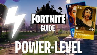 the Fortnite power level guide - how do I increase the strength of the home base?