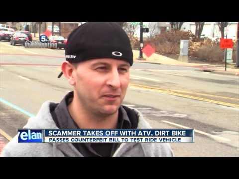 ATV, dirt bike sellers handed fake money