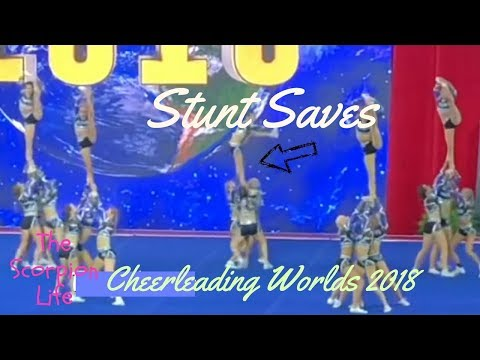 Stunt Saves at the Cheerleading Worlds 2018