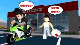 COMPREI A MOTO DE ROBUX NO BLOXBURG!! | Roblox - Bloxburg