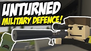 DEFEND THE MILITARY BASE - Unturned Survival (Horde Beacon)