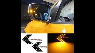 Как установить LED стрелки на зеркала, машины лада приора, заказанные с алиэкспресс.