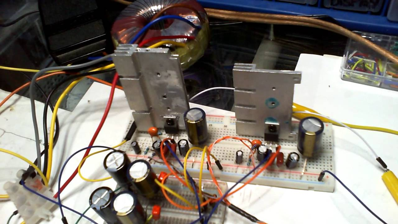 Simpler Power Supply For Lm1875 Stereo Amplifier Audio Frequency 20w Based