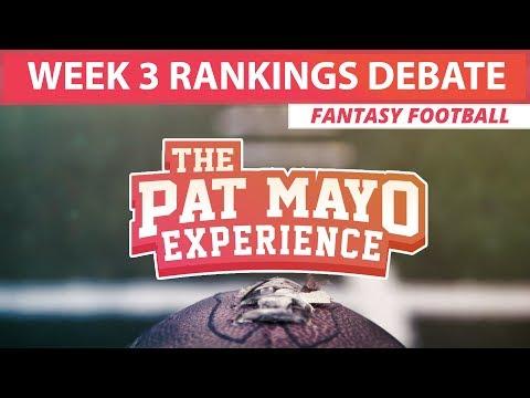 2017 Fantasy Football - Week 3 Rankings Debate, Sleepers, Starts and Sits