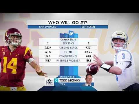 ESPN College Football Analyst Todd McShay on Josh Rosen vs. Sam Darnold in The NFL Draft - 1/9/18