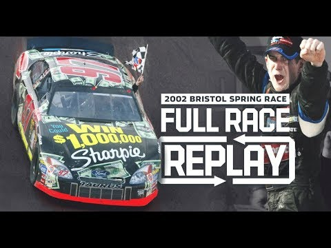 NASCAR Full Race: Kurt Busch's First Cup Series Win | Bristol Motor Speedway 2002