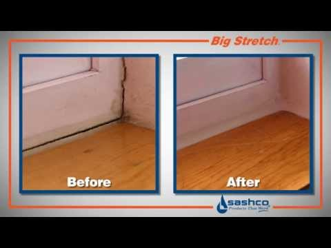 How To Seal Windows And Doors Using Big Stretch Youtube