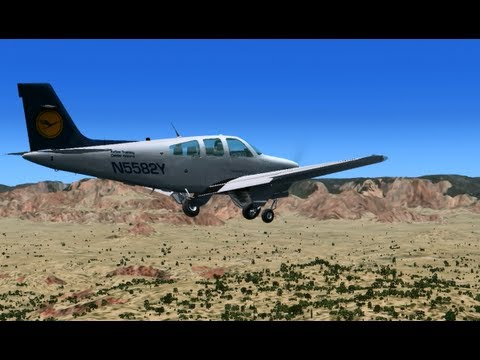 Lufthansa Flight Training Beech Bonnie In Sedona Fsx Youtube