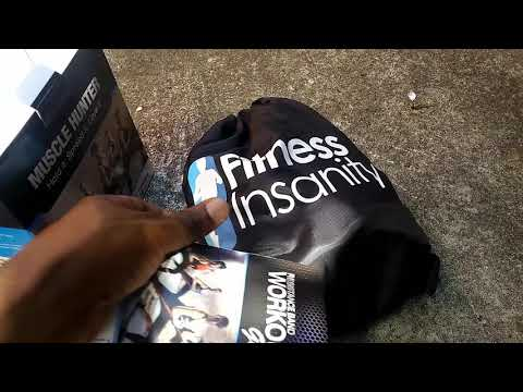 UNBOXING Fitness Insanity Resistance Band Set Include 5 Stackable Exercise Bands