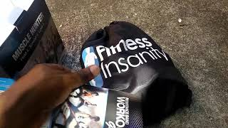 UNBOXING Fitness Insanity Resistance Band Set - Include 5 Stackable Exercise Bands