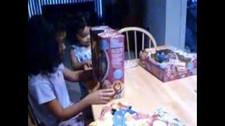 2005 Stephanie's 3rd Birthday presents opening Cyn helping Pop Dreamers Ari Ariel Belle Cinderella