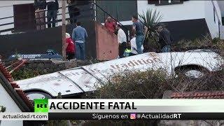Portugal: Al menos 28 muertos al volcar un autobús turístico en Madeira