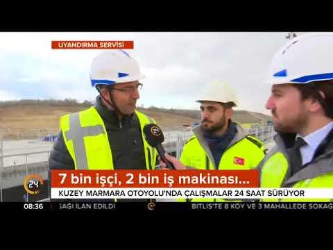 Kuzey Marmara Otoyolu'nda son durumu 24 TV görüntüledi