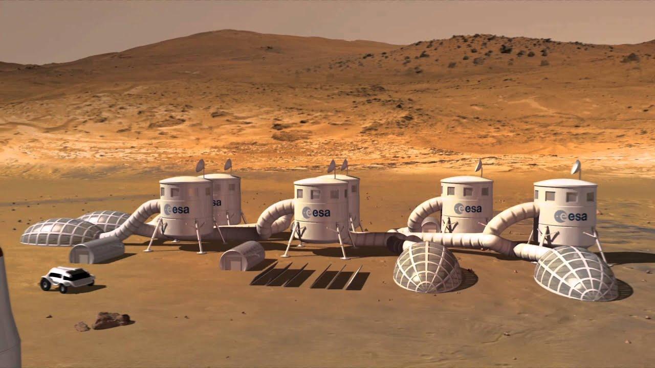Base on Mars (artist's impression) - YouTube