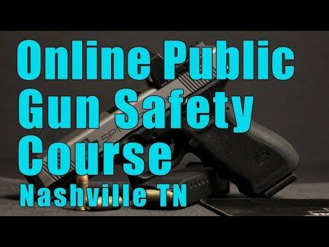 Online Public Gun Safety Course-Online Public Handgun Safety Class-Gun Safety Training-Nashville TN