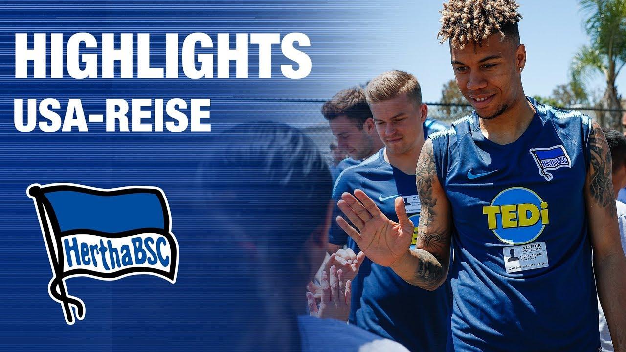Highlights Usa Reise Teardownwallstour Hertha Bsc