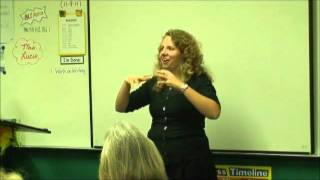 American Sign Language Class Week 5 Second Question
