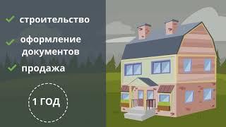 Строительный кооператив.  Продающий, рекламный анимационный ролик