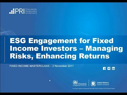 WEBINAR: ESG Engagement for Fixed Income Investors: Managing Risks, Enhancing Returns