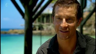 Island With Bear Grylls funny scene - Green Sea Turtle