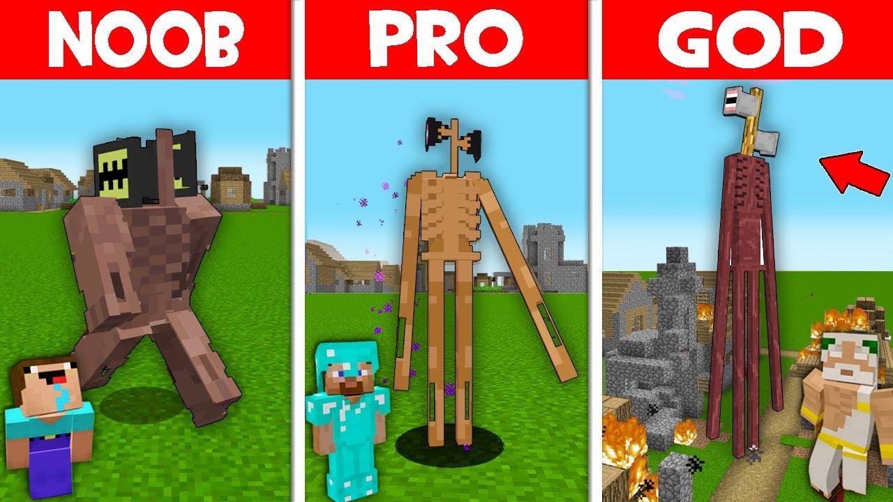 Minecraft NOOB vs PRO vs GOD: SIREN HEAD EVOLUTION! NOOB FOUND SIREN HEAD! (Animation)