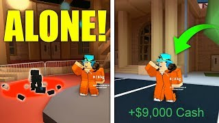 HOW TO GLITCH OUT OF THE MUSEUM IN JAILBREAK ALONE! (Roblox)