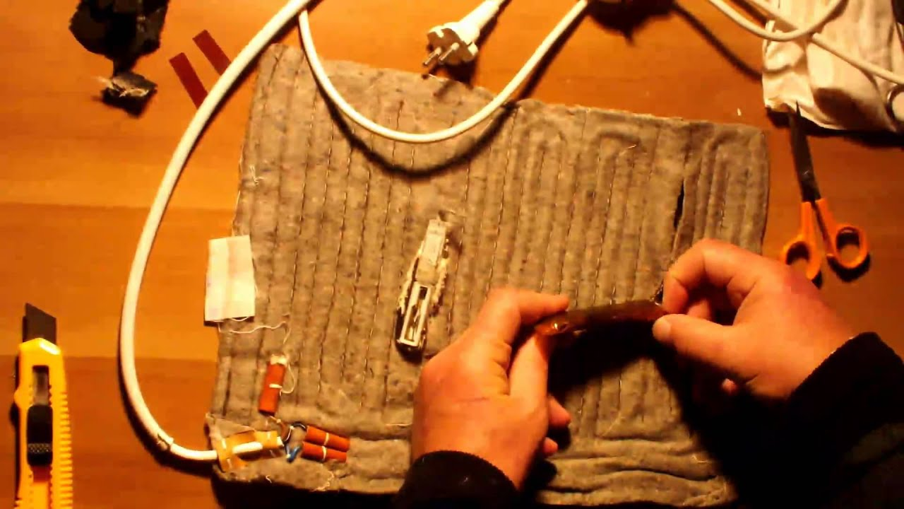 disassembling electric heating pads [ 1280 x 720 Pixel ]