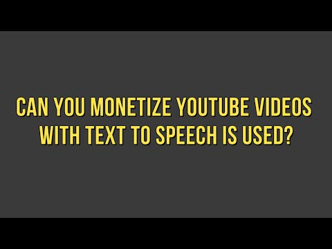 I Got My Videos Monetized On YouTube With Text to Speech Voices