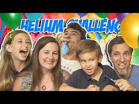 Family Helium Challenge | Josh Darnit