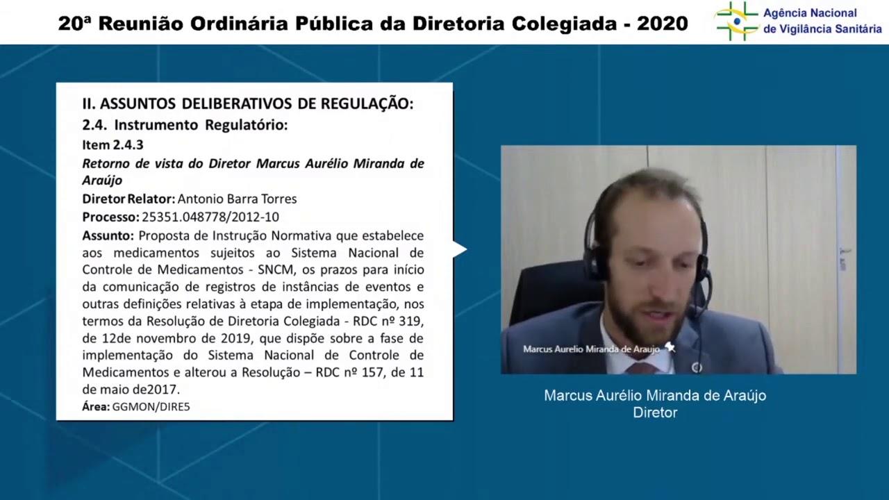20° Reunião da Dicol - Item 2 4 3 - Sistema Nacional de Controle de Medicamentos