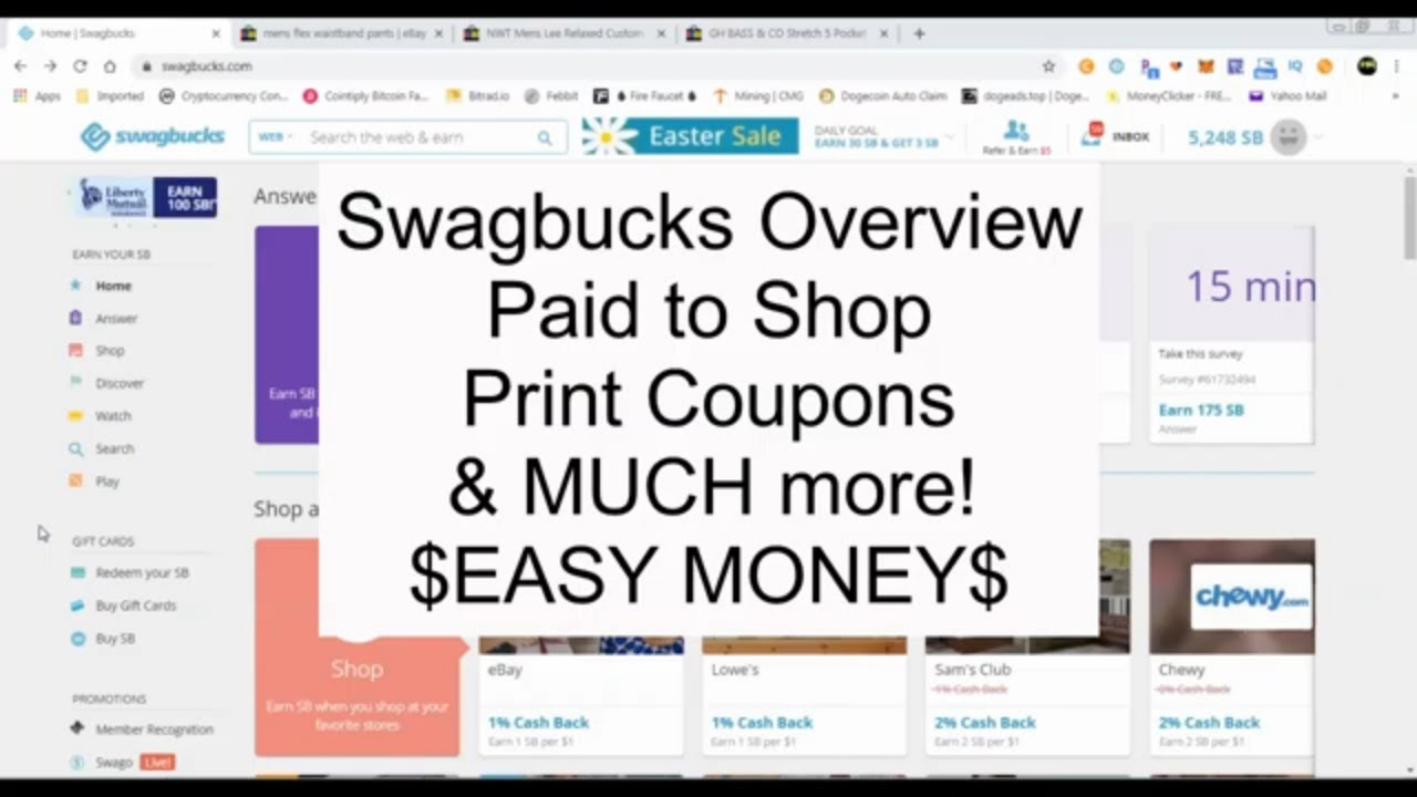 Saving: Swagbucks Overview - Many Easy Ways to Earn and Save Money Online - Gift Card Tricks!